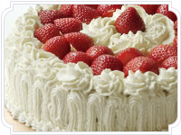Charlotte (whipped cream and chocolate, whipped cream and strawberry)